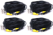 4 x 100' power video security CCTV camera cable BNC