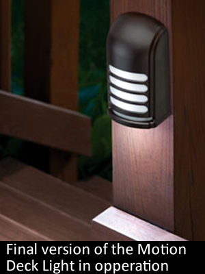 Motion Deck Light Finished Design on Porch Railling