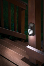 The Motion Deck Light's bright mode casts a wide pool of light under the product and has multiple setting for brightness and duration.