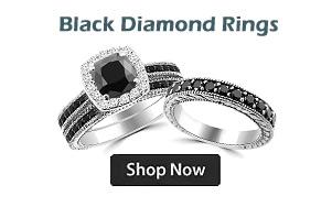 Black Diamond Engagement Wedding Rings