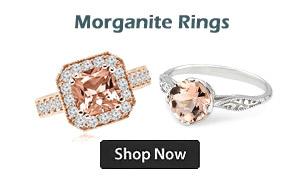 Peach-Pink Morganite Engagement Cocktail Rings
