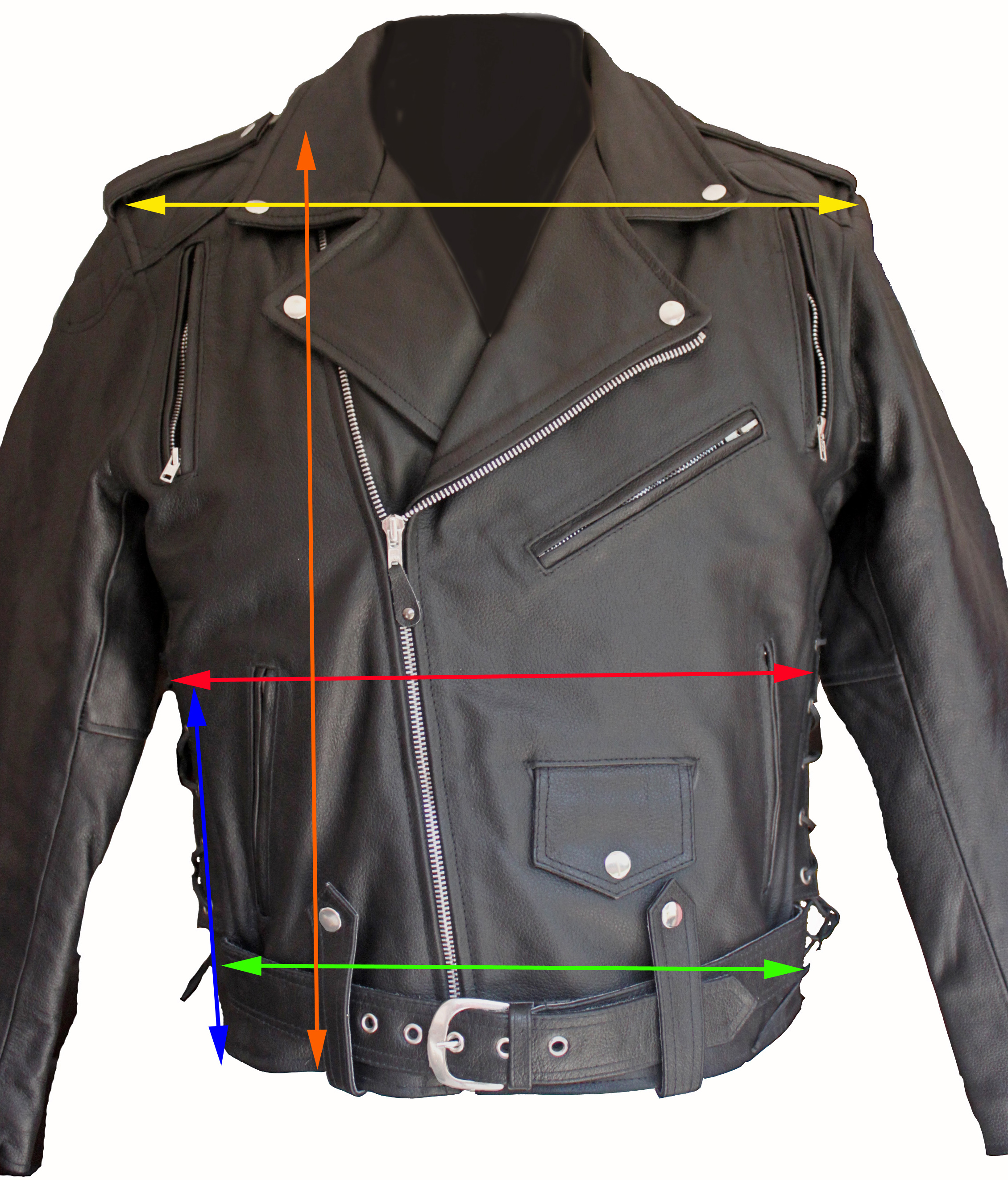 custom leather jacket - front