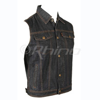 Blue Denim Motorcycle Vest