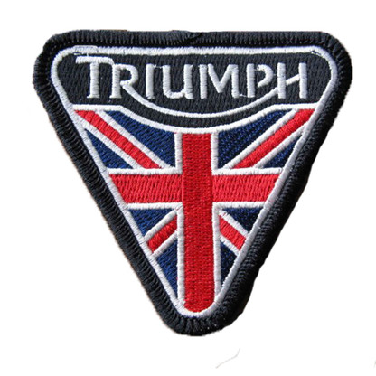 Triumph Triangle Flag Motorcycle Embroidered Patch