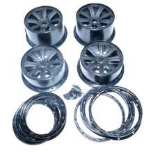 Black 8 spoke rims set for HPI baja