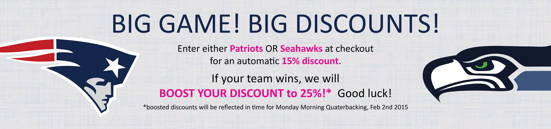 Big Games, Big Discounts