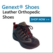 Genext Leather Orthopedic Shoes For Stability, Comfort and Orthotics