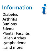 Information about various foot ailments.