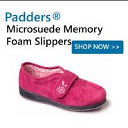 Padders Microsuede Memory Foam Slippers