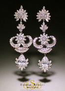CZ Art Deco Chandelier Earrings