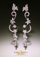 Filigree CZ Chandelier Earrings