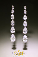 Classic CZ Drop Long Earrings