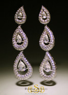 chandelier triple drop earrings