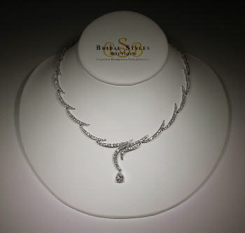 Classic CZ Drop Necklace