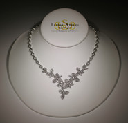 Delicate CZ Flower Necklace