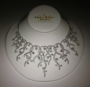 Modern Fancy CZ Necklace