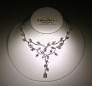Delicate Vine CZ Necklace
