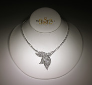 CZ Leaf Necklace