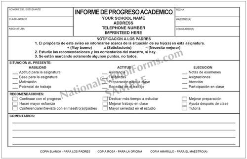 Informe de Progreso Academico (262) con la escuela impronta