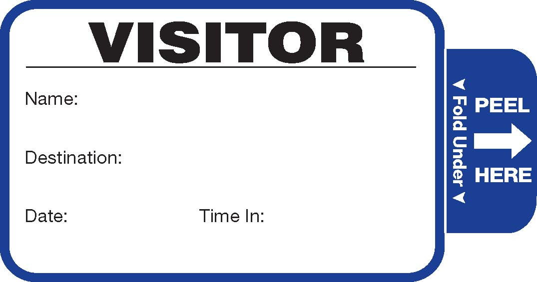 Visitor Pass Registry Book - Self-Expiring (242E-806)