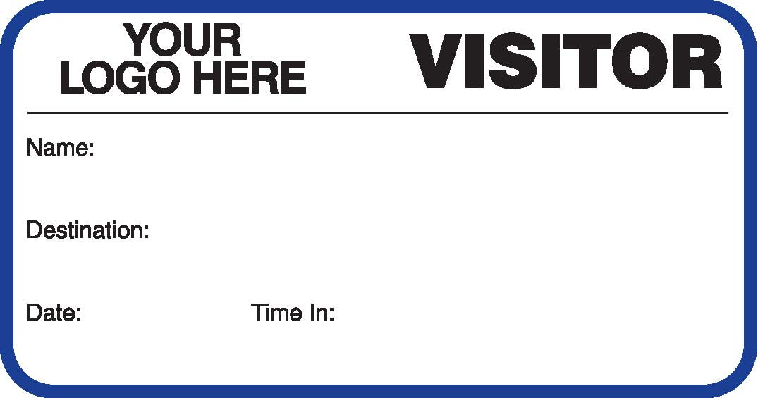 Visitor Pass Registry Book - Customized (242B-750)