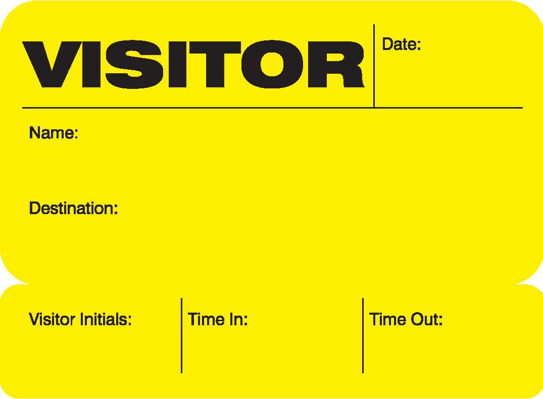 Visitor Pass Registry Book (242C-702) Sun Yellow Label