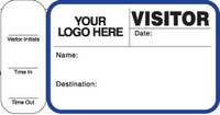 242J (763) Visitor Label Pass Book Customized