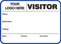 Visitor Pass Registry Book - Customized (242G-752)