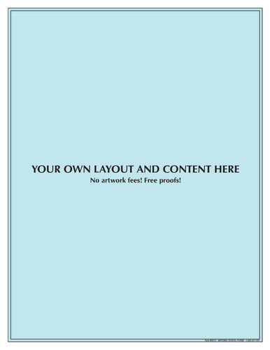 "#29121 - Customized Pad - 8½"" x 11"" - 50 Sheets per Pad"