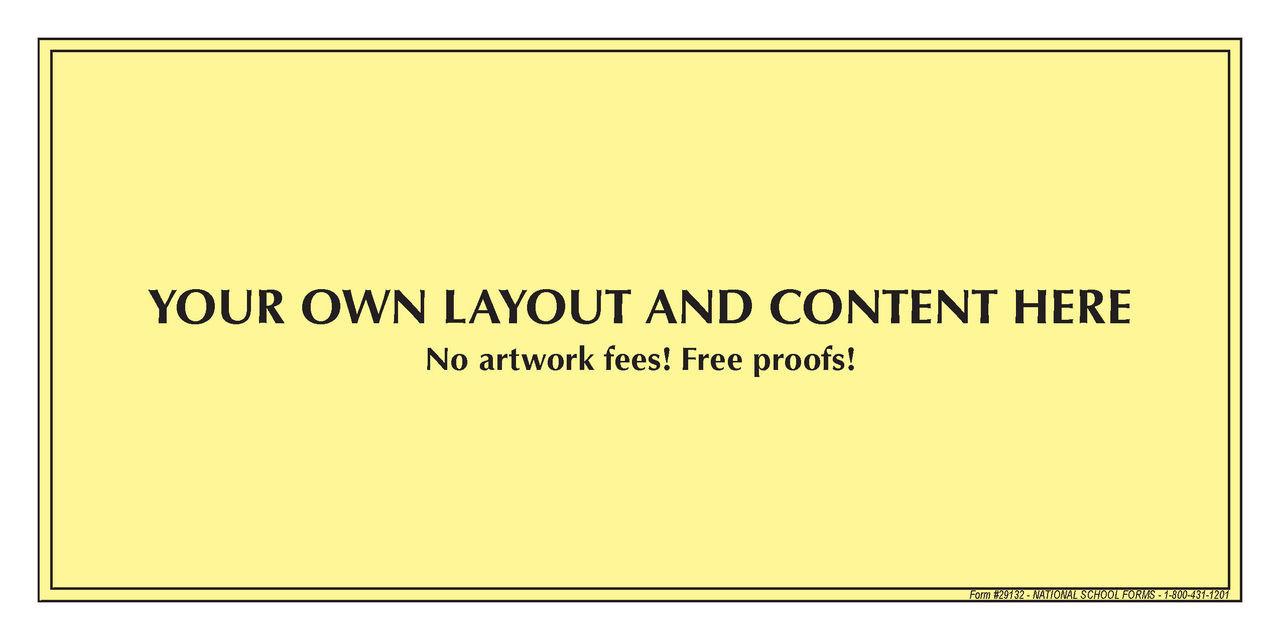 "29132 - Customized Pad - 8½"" x 4¼"" - 100 Sheets per Pad"