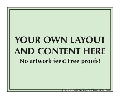 "#29152 - Customized Pad - 4¼"" x 3½"" - 100 Sheets per Pad"