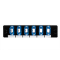 HellermannTyton | FAP6SMTP | ADAPTER PANEL-6 MTP SM BLUE |  Lectro Components