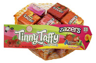 Zazers Kosher Tinny Taffy Assorted Chewy Candy Mash Bag Gluten Free (3 Bags of 13 Cubes)