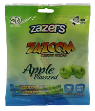 Zazers Zazoom Chewy Sticks Apple Flavored Color/Gluten Free - 20 Pack