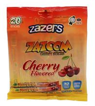 Zazers Zazoom Chewy Sticks Cherry Flavored Color/Gluten Free - 20 Pack