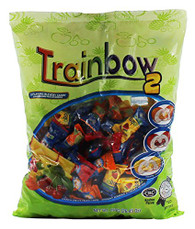 Zaza Trainbow-2 Chewy Candy 2 Flavors in 1 Candy, Kosher (Large Pack)