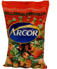 Arcor Juice Filled Strawberry Hard Kosher Candy