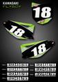 Mini Flyboy Number Plates Kawasaki