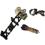 Archer Xtreme AXT Pursuit X3 Sight, Carbon Helix Quiver, Triad Stabilizer Combo Set - PP20A