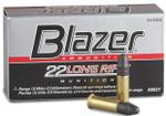 CCI Blazer .22LR LRN 40 Grain Ammo, 50 rounds - 00021