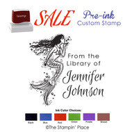 SPECIAL CUSTOM: Mermaid Style: Pre-ink Stamp