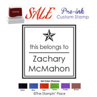 SPECIAL CUSTOM: Star Style: Pre-ink Stamp