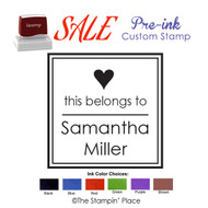SPECIAL CUSTOM: Heart Style: Pre-ink Stamp