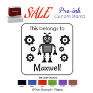 SPECIAL CUSTOM: Robot Style: Pre-ink Stamp