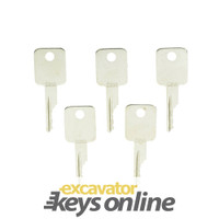 Case and bobcat skid steer Keys D250 (Sets of 5)