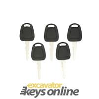 F900 Excavator Key (Sets of 5) Starts Doosan, Daewoo, Terex & Bobcat