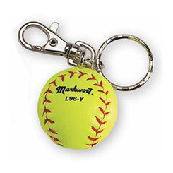 Markwort Miniature Yellow Softball Key Chain
