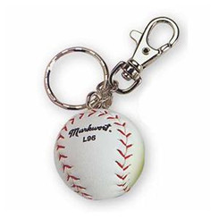 Markwort Miniature White Baseball Key Chain
