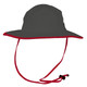 The Game Boonie / Bucket Hat - Dark Grey / Red