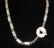 Brushed Sterling Silver &  Hill Tribe Silver Necklace